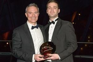 Guy Salmon Jaguar Stockport wins Sales Retailer of the Year Award
