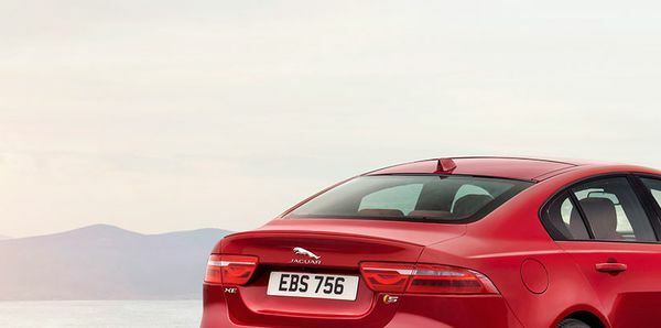 jaguar xe sedan rear