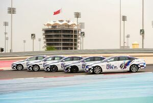 Bahrain Grand Prix-branded Jaguars Kick Off Promotional Tour for the Big Race Weekend