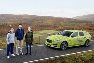 NEW JAGUAR XF SPORTBRAKE BEGINS JOURNEY TO WIMBLEDON