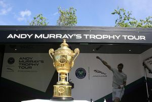 JAGUAR SPREAD THE FEELING OF WIMBLEDON ACROSS THE NATION WITH ANDY MURRAY TROPHY TOUR.