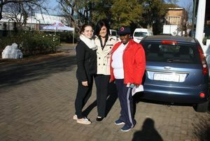 Nelson Mandela Charity Drive with Jaguar Bedfordview and Elandsvallei Red Cross Home