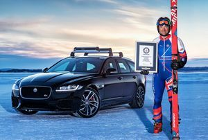 OLYMPIC SKIER AND JAGUAR HIT 117 MPH TO SMASH TOWING WORLD RECORD