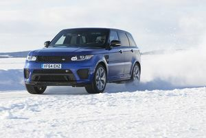Range Rover Sport SVR Takes On Arctic Silverstone Circuit Carved Onto Frozen Lake