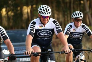 Land Rover counting peddle strokes at the ABSA Cape Epic