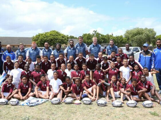 RUGBY GOES RURAL WITH LAND ROVER BRINGS HOPE AND JOY TO LEARNERS AT LOCAL SCHOOL IN WESTERN CAPE